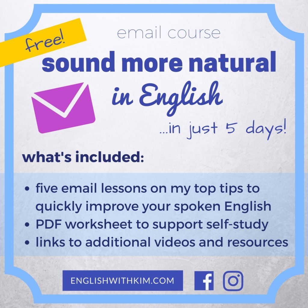 Sound More Natural in English Email Course