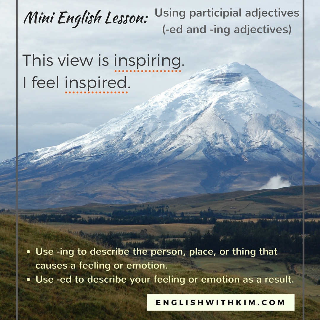 Participial Adjectives Mini-Lesson