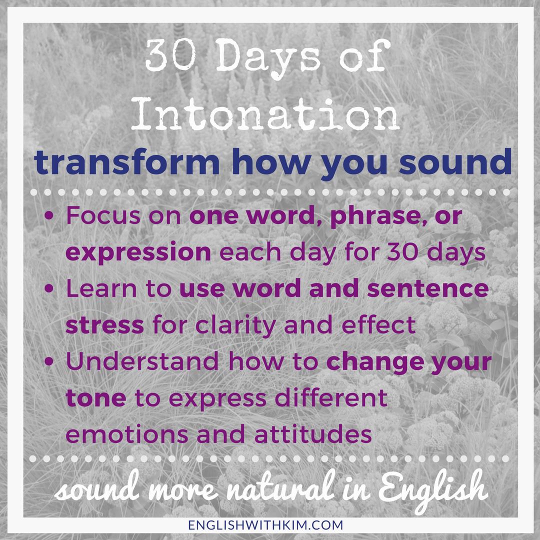 30 Days of Intonation Program