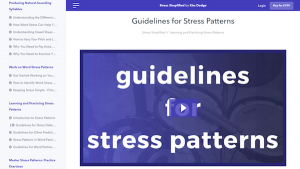 Guidelines for Stress Patterns