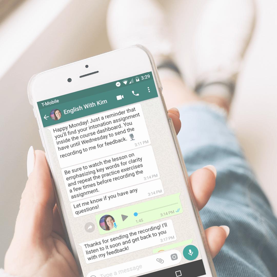 Intonation Clinic Feedback on WhatsApp